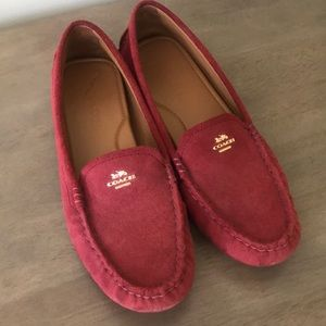 Used Coach Suede Loafers!